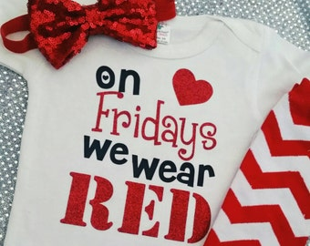 On Fridays we wear RED
