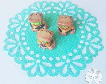 Cheesepurrger Polymer Clay Kitty Kawaii Charm