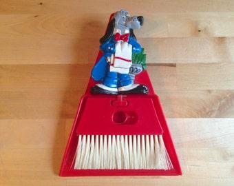 Vintage Mini Handheld Sweeper and Dustpan - Dog Butler