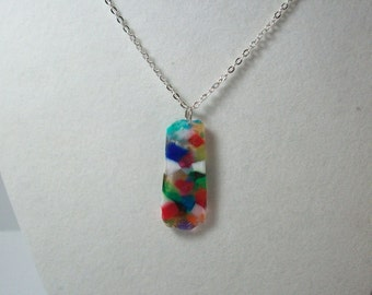 Melted Bead Pendant Necklace