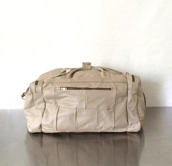 Vintage Leather Duffel Bag 94