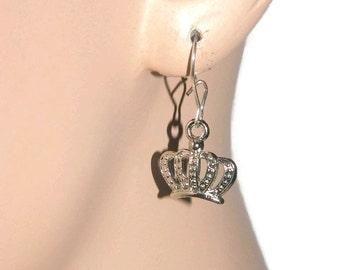Small Earrings For Girls, Princess Earrings, The Kids Shop, Crown Earrings