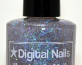 Illumine la Nuit - a Digital Nails iridescent glitter and holographic flakie topper inspired by the properties of light