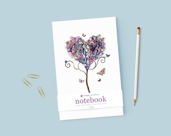 Illustrated Notebook Blank Notebook A5 Fashion Journal Dream Journal Gratitude Notebook Writing Notebook Handcrafted Journal Personal Diary