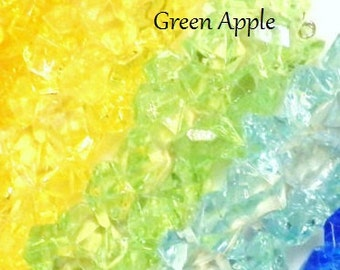 Green Apple Fake Rock Candy Christmas Ornament Decoration