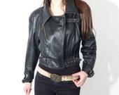 Vintage Alexander Black Leather Jacket Size 48