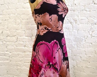 90s Gianni Versace Couture Sexy Silk Halter Dress