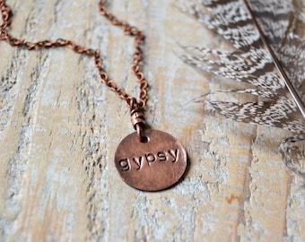 Gypsy necklace, mens gypsy necklace, bohemian jewelry, boho necklace, gypsy jewelry, gift for her