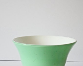 Handblown Glass Double Overlay Color Bowl Mint Green White