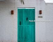Turquoise Door Photography, Mexico Travel Art, Beach House Decor, Door Art, Rustic Decor, Living Room Art, Cool Door Art
