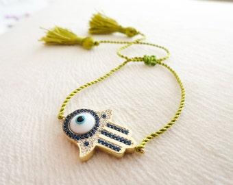 Silver hamsa bracelets, evil eye boho bracelets fatima hand sterling silver bracelet bohemian turkish evil eye 925 silver lucky eye bracelet