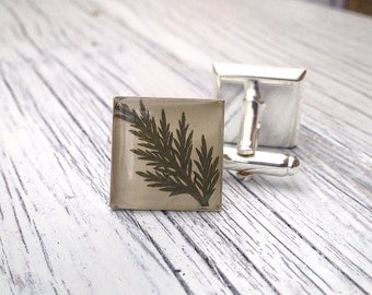 gifts for men, Leaf cufflinks, gift ideas for men, Nature cufflink, groomsmen gifts, nature lover gift, groom cufflinks, unique gift for dad