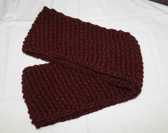 Cranberry Red Nubby Cowl