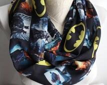 Batman Infinity Scarf, Batman Scarf, Dawn of Justice, Superhero Scarf, joker Scarf, Batman Gift, Circle Scarf, Fashion Scarf