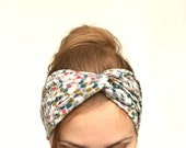 gray turban headband stretchy head wrap twist headband women turban casual everyday women grey turban headband head band  stirnband