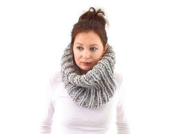 ON SALE Chunky Cowl // The London // in Grey Marble