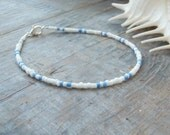 blue and white anklet surfer beach nautical cruise wear