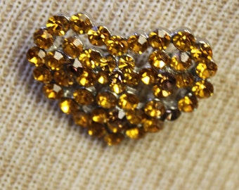 Jeweled Heart Pin