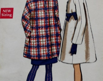 Full Coat / Seven Eights Length Coat Pattern /Vogue 7514/ 1960s Vintage Sewing Pattern /Mod /Mad Men