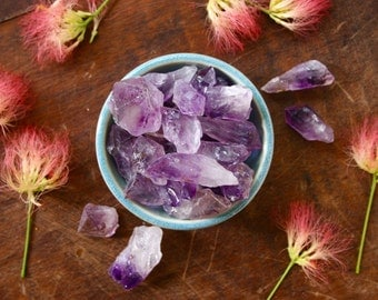 XL Rough Amethyst Point Raw Purple Crystal Specimen Healing Crystal Points for Intuition, Sleep Meditation Wicca Stones Third Eye Chakra