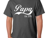 Father's Day, pregnancy announcement, gift for dad, dad to be, new dad, papa shirt, baby shower gift, baby announcement, PAPA EST 2016