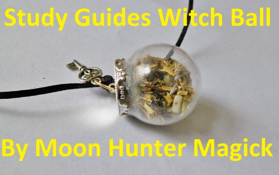 Study Guides Good Grades Concentration Charm Mini Witch Ball Witch Bottle Pagan Wicca Reiki