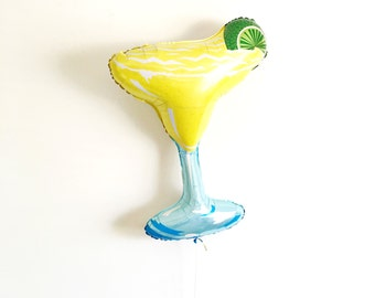 FREE SHIPPING Margarita jumbo mylar balloon birthday pool party decorations Cinco de Mayo fiesta