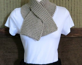 Neckwarmer, Knitted Camel Scarf, Chunky Wool Cowl, Winter Neck Shawl, Nchanted Gifts Australia