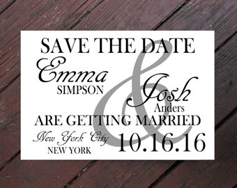 Save the Date- Wedding - Cards - Engagement - Printable