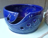 Yarn Bowl, Crochet, Knitting, Mothers Day, cobalt blue, gift, present, Christmas, IN STOCK, ready to ship