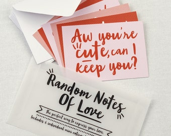 Random Notes of Love - set of notecards for anniversaries and valentines