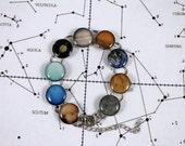 Solar System Bracelet with Pluto