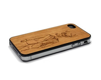 iPhone 4 Case Wood Stylish Deer iPhone 4S Case Wood iPhone 4 Case iPhone 4 Case Wood, iPhone 4 Wood Case, iPhone 4S Wood