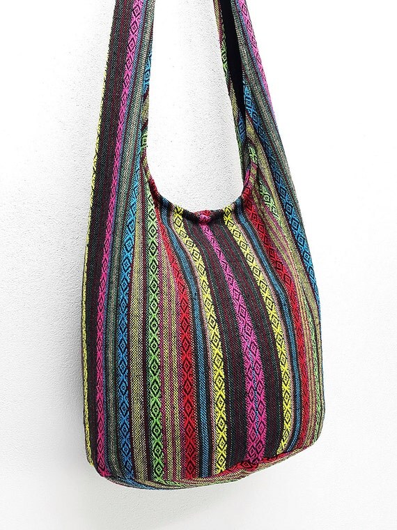 Woven Cotton Bag Hippie bag Hobo bag Boho bag Shoulder bag