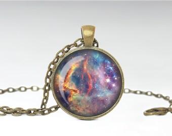 e8947ece5c557 Items Similar To Galaxy Triangle Necklace Hipster Nebula Jewelry ...