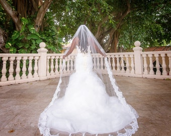 Beautiful Lace Wedding Veil