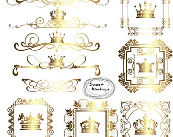 crown border digital borders frames clipart crown frame clipart wedding digital digital crown text dividers monogram frame 0619