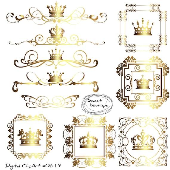 crown border digital borders frames clipart crown frame clipart wedding digital