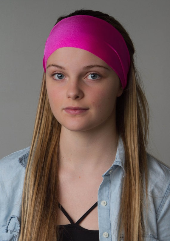 Pink Yoga Headband - Malibu Barbie Pink - Flawless by Manda Bees - MALIBU