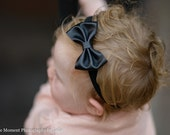 U CHOOSE Leather Mini Hair Bow, hairbow 4 baby, toddler girls. Leather headband