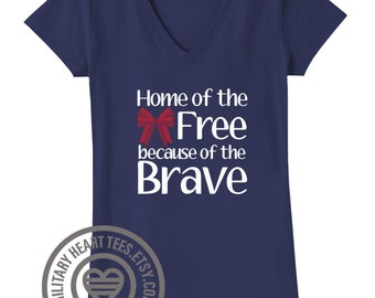 Home of the Free shirt, Red Friday shirt, Support our troops shirt, Homecoming shirt, July 4th shirt, Army shirt, Air force shirt Deployment