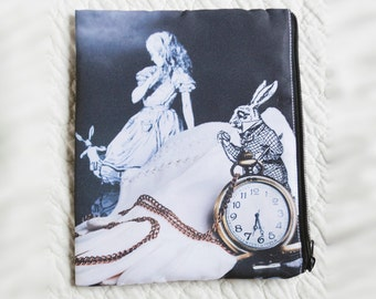 Alice and the White Rabbit Zippered Bag