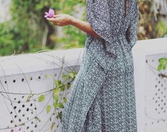 Long boho kaftan with slits on both sides, summer kaftan, caftan, beach kaftan, summer dress, dress.