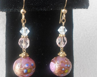 Vintage Murano roses