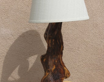 Ancient Bristlecone Pine lamp, rare wood.  Oldest living organism (FREE SHIPPING)