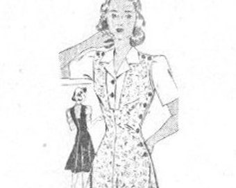 Mail Order 3544 Vintage 1940s Jumper and Blouse Sewing Pattern