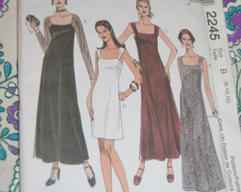 McCalls 2245 Misses Dress in two lengths Sewing Pattern - UNCUT - Sizes 8 10 12