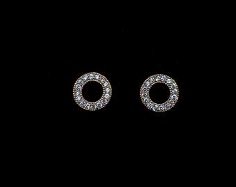 Flying Saucer Diamond studs