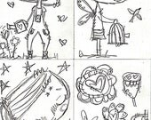 Fairy Stamp 1- digital stamp for papercraft, scrapbooking, art journaling, cardmaking. A printable image, coloring page, fairy cards