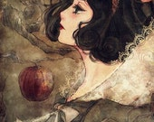 Gothic Snow White Fan Art 8x10 Fabric Block - Great for Quilting, Pillows & Wall Art - Buy 2, Get 1 FREE